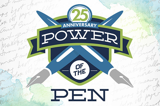 Power of the Pen 25 logo