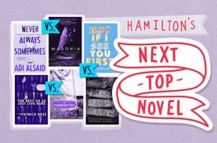 a colalge of book covers with the text hamiltons next top novel