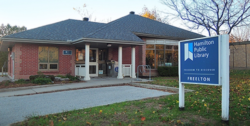 photo of the front of the Freelton Branch