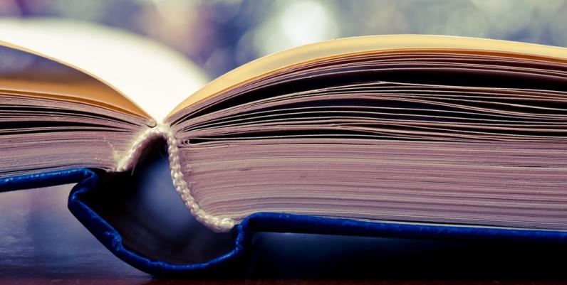 Closeup of a book