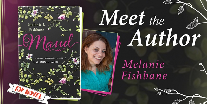 front cover of the book Maud and photo of author Melanie Fishbane