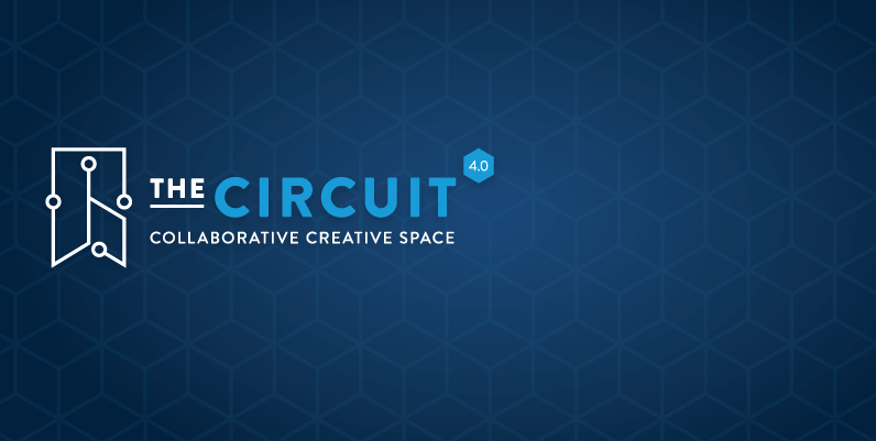 text: the circuit 4 collaborative creative space