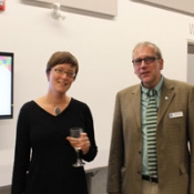 photo of author Kate Cayley and HPL CEO Paul Takala