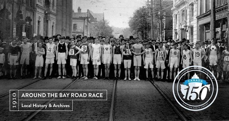 archival image of the 1910 around the bay race