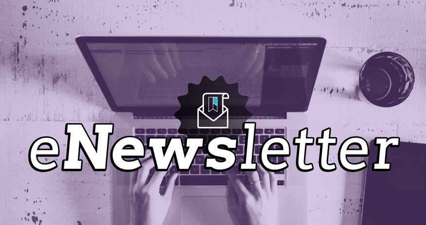 image of computer with text enewsletter