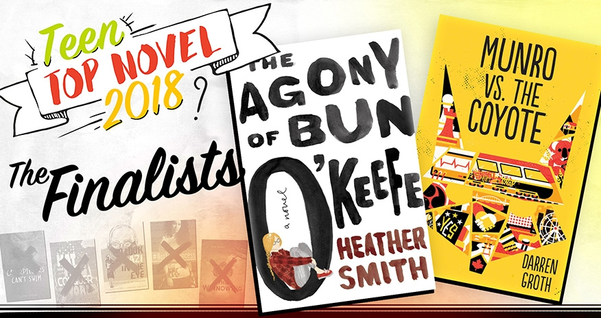 covers of The Agony Bun O'Keefe and Munro vs The Coyote