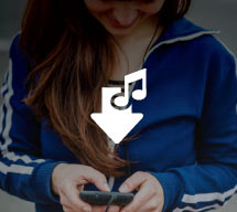 Girl using an mp3 player